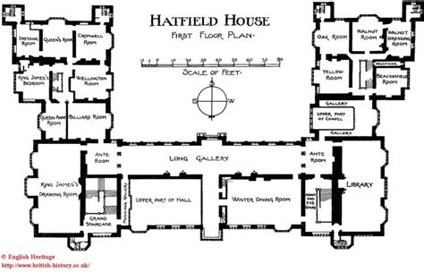 hatfield house first floor plans pinterest