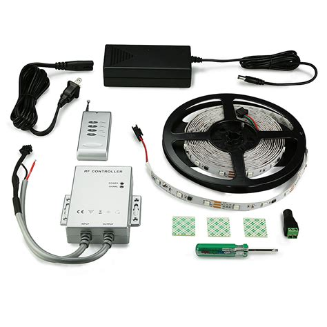 led tape light kit color chasing led light strip full kit with multi color