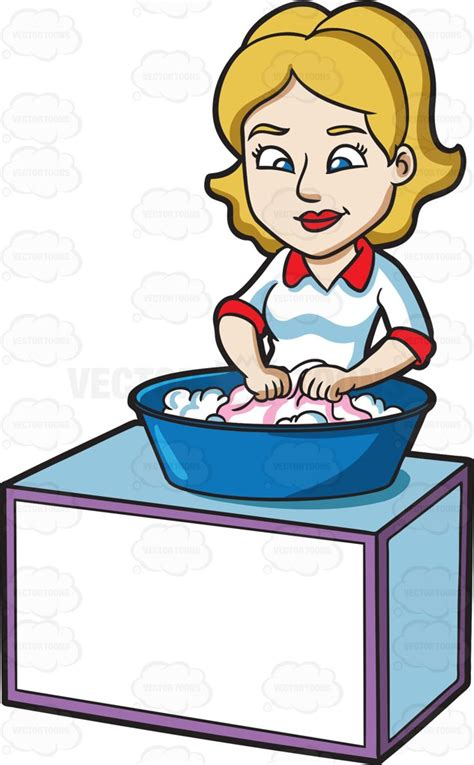 cloth laundry hers clipart a washing clothes with