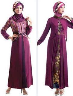 desain baju batik pesta muslim 10 desain baju batik muslim kombinasi dengan kain polos