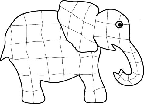 elephant template for preschool elmer elephant coloring page coloring home