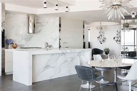 marble island kitchen sparkling port melbourne apartment