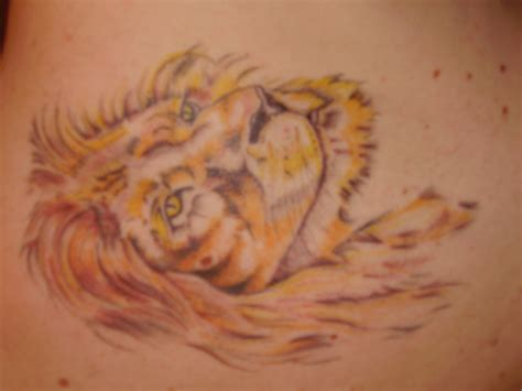 full body lioness tattoo lion profile full body