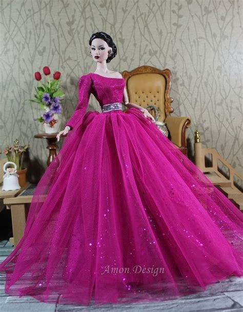 Barbie Gown Design | details about amon design gown outfit dress fashion