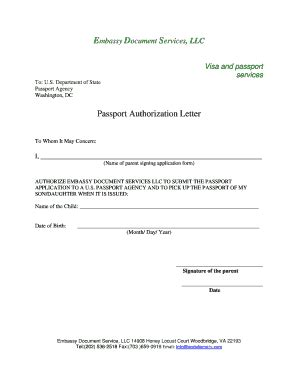 authorization letter to up passport us embassy authorization letter to up forms and templates