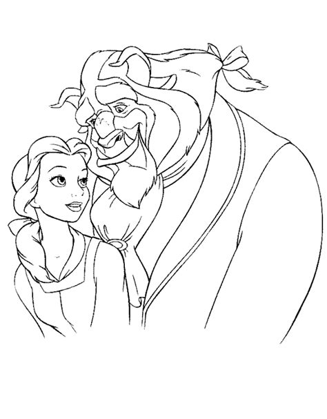 printable coloring area beauty and the beast coloring book