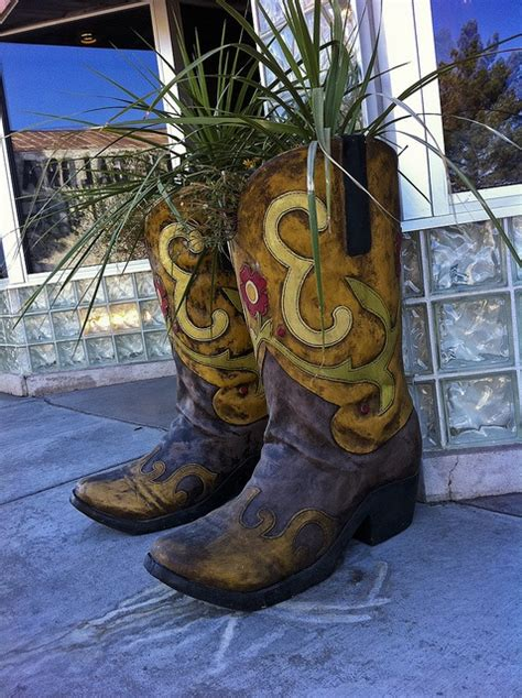 Cowboy Boot Planter by