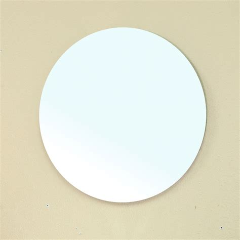 24 inch mirror 24 inch frameless mirror by bellaterra home in