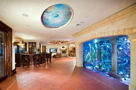 room aquarium entertainment room with aquarium wall