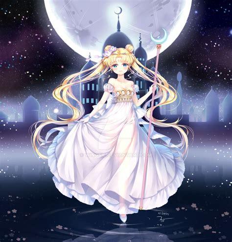 princess serenity  wingsiedeviantartcom  atdeviantart sailor chibi moon sailor moon