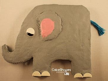 elephant cake template elephant cut up cake pattern