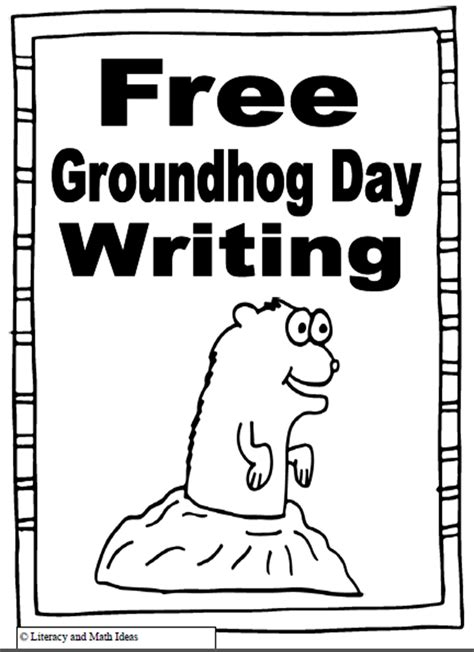groundhog day journal prompts literacy math ideas free groundhog day writing