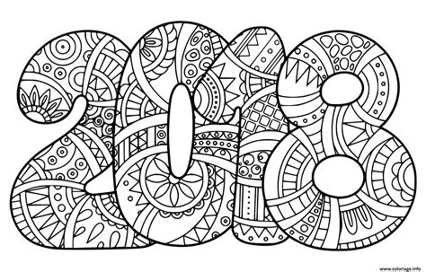 new year 2018 animal and color coloriage nouvel an 2018 bonne annee dessin
