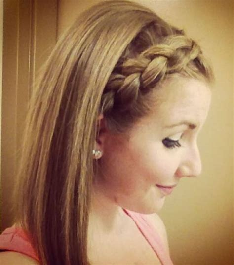 hair styles away from face big inside out braid this pulls your hair away from your