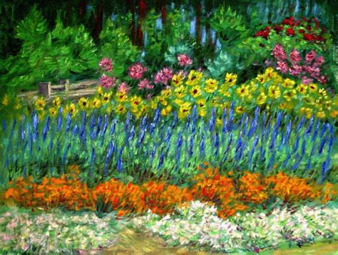 Flower Gardens In California Flower Gardens In California Quot Northern California Garden Quot Flower Garden Paintings