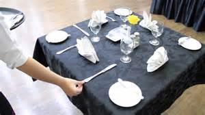 table set up f b service