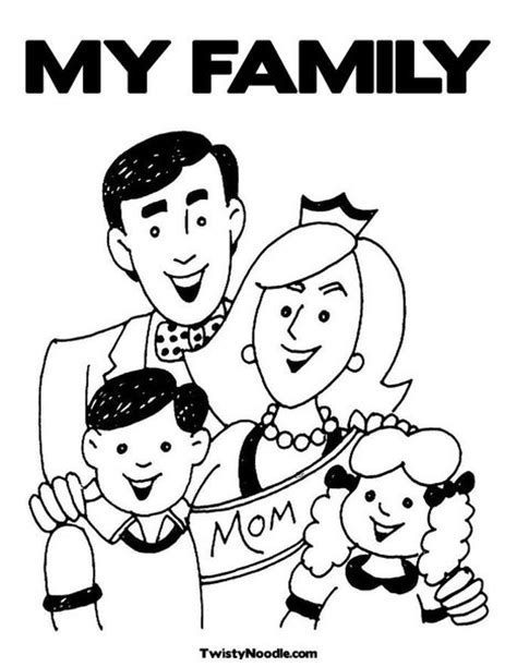 my family free coloring pages
