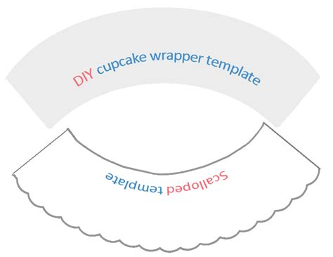 wrapper template search results for free cupcake wrapper template