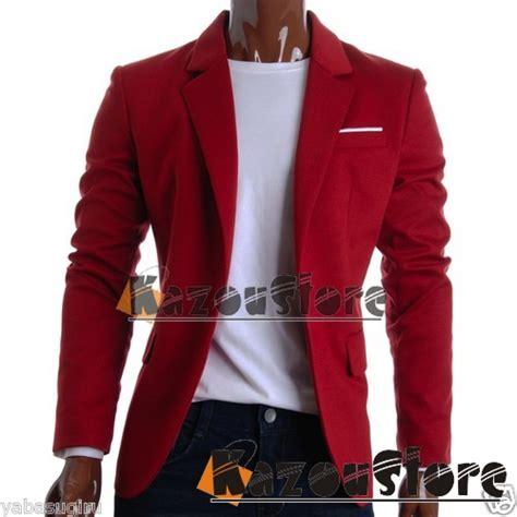 Jaket Jas Jas Pria Merah detil produk blazer pria formal merah kode njs80 kazoustore