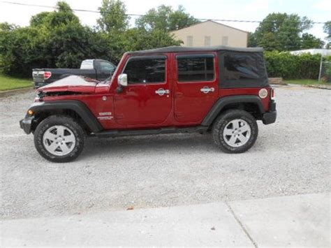 2011 Jeep Wrangler 4 Door For Sale Find Used 2011 Jeep Wrangler 4 Door 4x4 Salvage Wrecked
