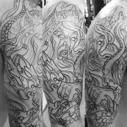 outline first session of poseidon tattoo remington