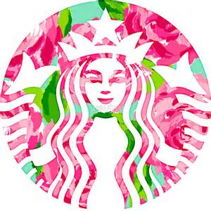 lilly pulitzer and starbucks floral starbucks lilly pulitzer sticker on the hunt