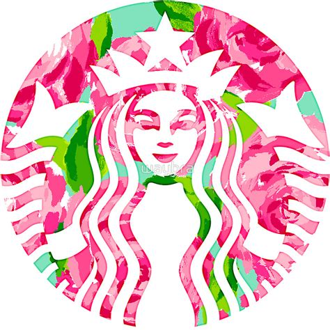 lilly pulitzer starbucks floral starbucks lilly pulitzer sticker on the hunt