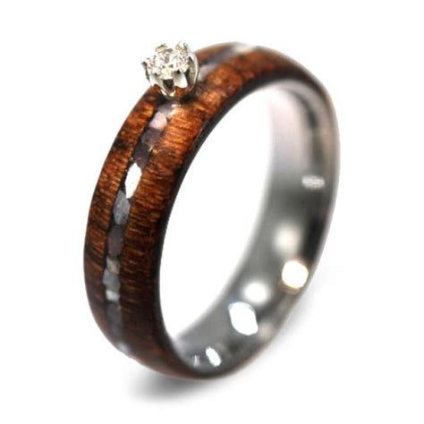 Wooden Wedding Rings by 5 Non Traditional Engagement Rings Editor S Etsy Picks