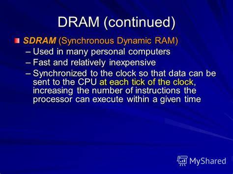 synchronous dynamic ram презентация на тему quot unit 2 hardware systems this unit