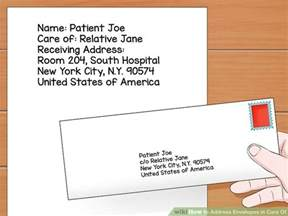Apartment Postal Abbreviation How To Address Envelopes In Care Of 11 Steps With Pictures