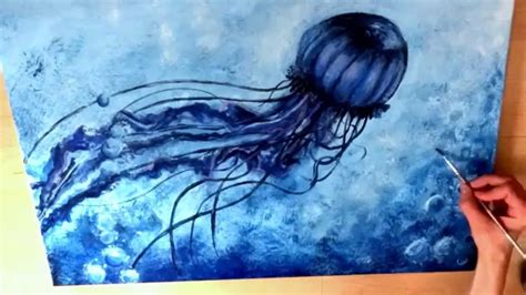 acrylic paint jellyfish jellyfish painted in acrylics