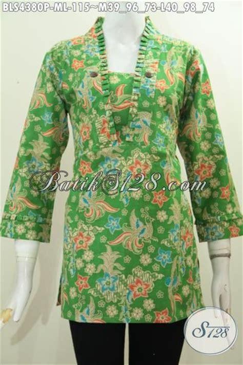 desain baju batik hijau produk baju blus batik warna hijau motif bunga pakaian