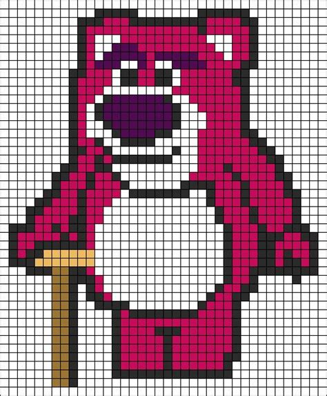 Lotso Story Hama Perler Disney 7759 best perler images on fusion