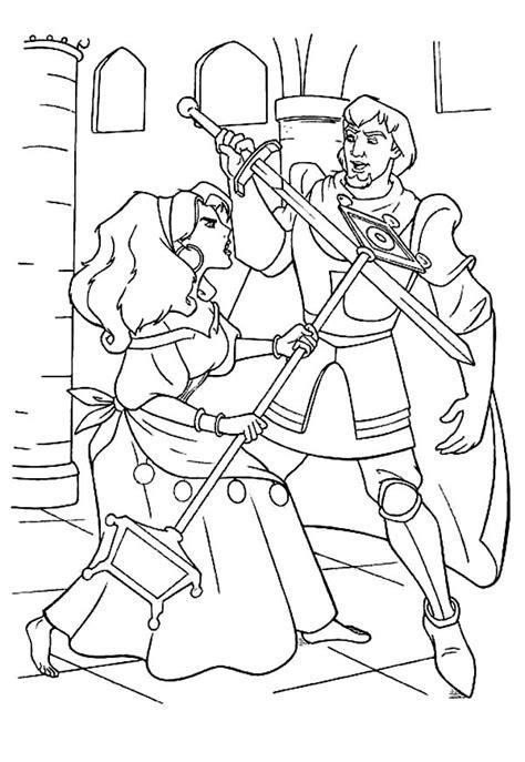 esmeralda sword fight  phoebus   hunchback