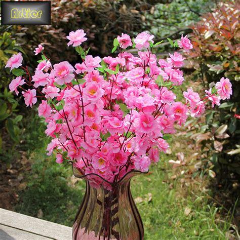 6pcs peach blossom simulation flowers artificial flowers simulation small peach blossom cherry branch silk flower