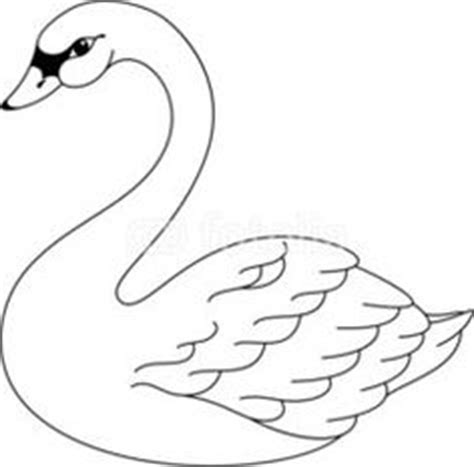 swan pattern use the printable outline for crafts