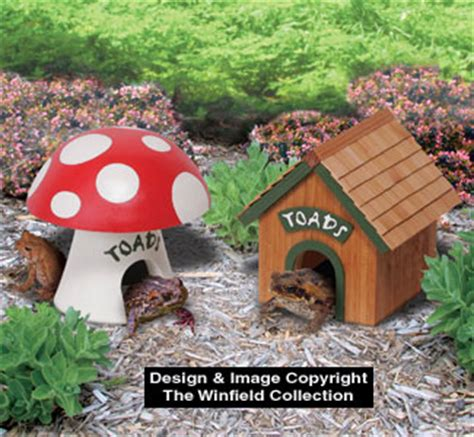 yard garden projects toad house wood project plan