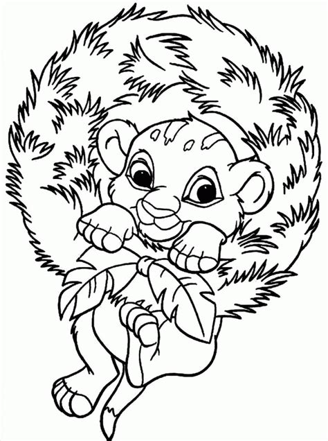 christmas lion coloring pages baby simba coloring pages coloring home