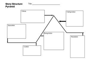 Story Pyramid Template search results for story structure graphic organizer