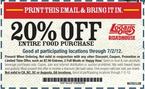 logan s roadhouse coupons january 2016 coupon specialist