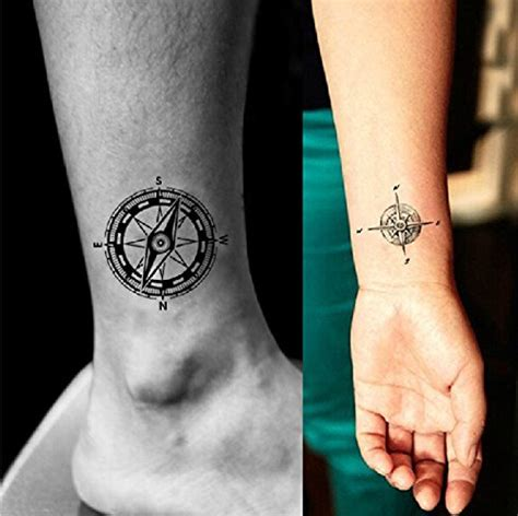 papilio tattoo paper review yeeech compass directions temporary tattoos sticker black