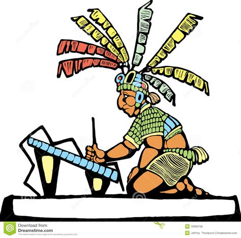 imagenes de mayas animados mayan scribe royalty free stock photos image 10090758