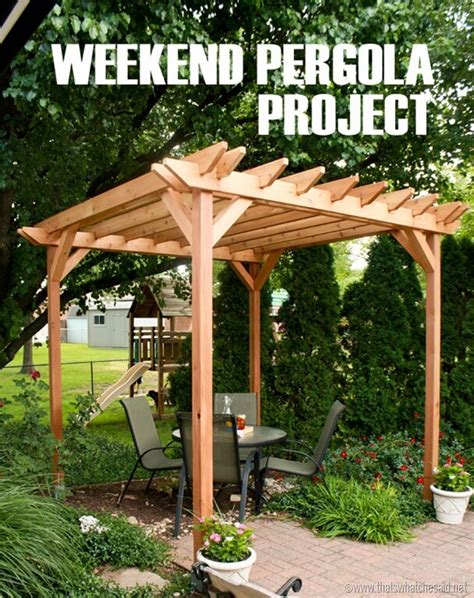 diy backyard pergola weekend diy pergola project that s what che said