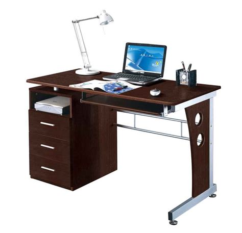 Modern Glass Desks Contemporary Glass And Steel Desk For Modern Office