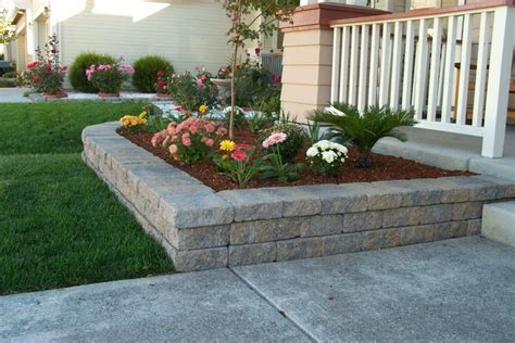 retaining wall flower bed allan block europa collection nitterhouse masonry