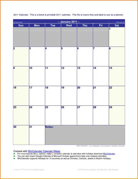 office calendar template best resumes