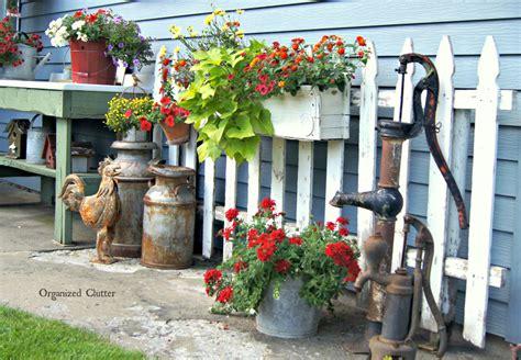 Garden Junk Ideas Galore 2014 Round Up Organized Clutter Garden Junk Ideas