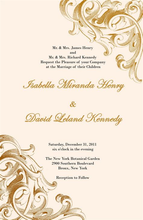 Wedding Invitation Designs by And Beautiful Wedding Invitations For Free