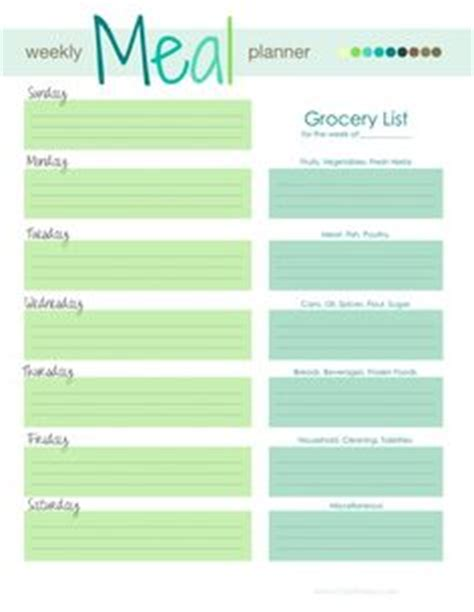 printable meal prep planner 1000 ideas about weekly meal planner on pinterest meal