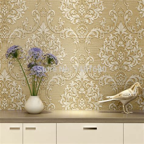 wallpaper design sles aliexpress com buy european non woven metallic floral
